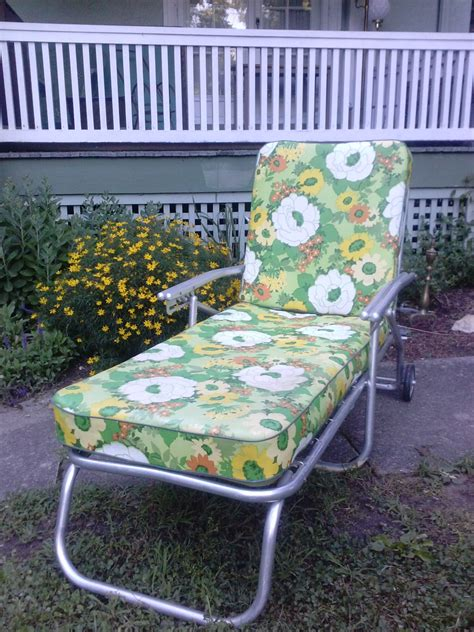 Vintage Outdoor Furniture by Hold Vintage Mid Century Aluminum Chaise Lounge By