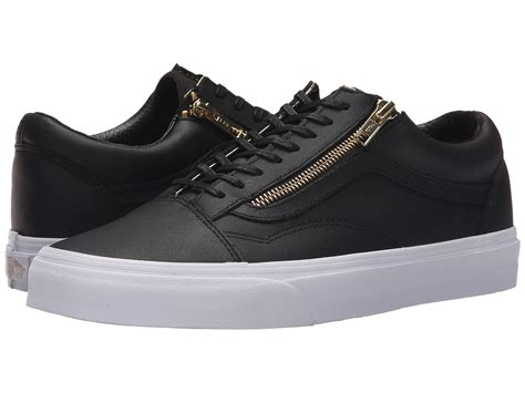 Zipper Vans vans skool zip in black for lyst