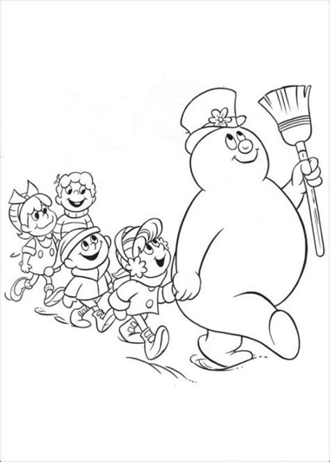 coloring page frosty the snowman 8 best images of frosty the snowman free printable