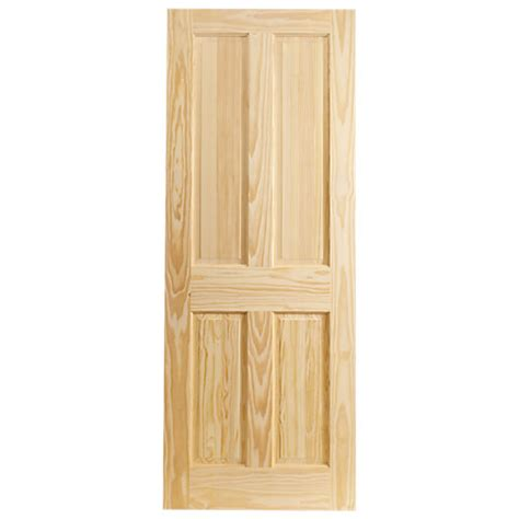 Softwood Interior Doors Wickes Skipton Softwood Door Clear Pine 4 Panel 1981x762mm Wickes Co Uk
