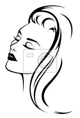 Beau Hair Styler 3458 Hitam papier peint beau visage de femme aux cheveux longs