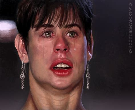 demi moore haircut in ghost the movie demi moore ghost caricature by orange buddhas