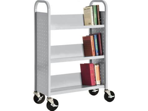 3 Shelf Book by Single Sided Sloped Shelf Book Cart 3 Shelves Wmb 133