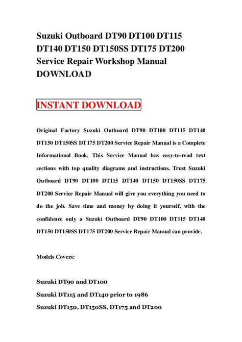 small engine repair manuals free download 2008 suzuki xl7 interior lighting suzuki dt outboard workshop repair manual autos post