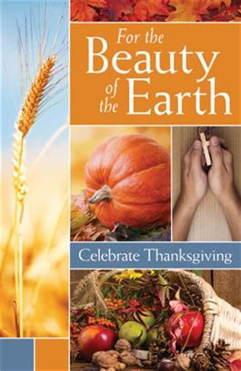 for the beauty of the earth thanksgiving service product