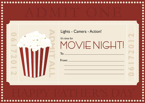 printable movie gift cards dinner and a movie gift basket for dinner and a movie