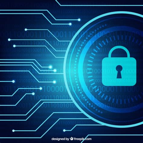 security background pattern vector dark blue background with security padlock vector free