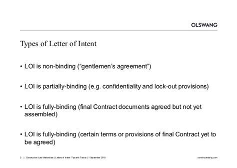 Letter Of Intent Quantum Meruit letters of intent