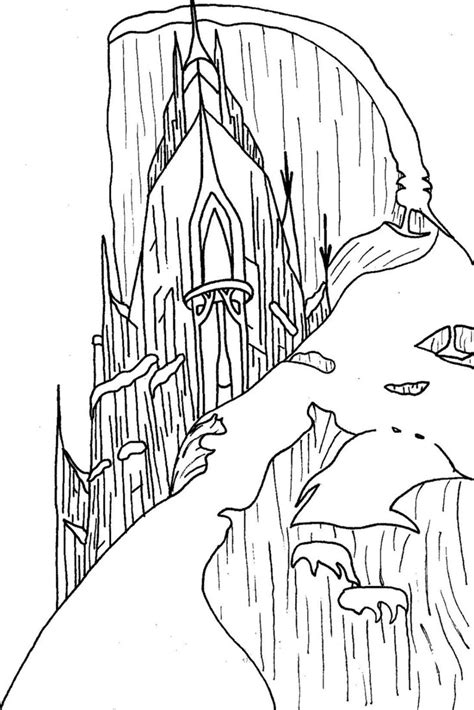 frozen coloring pages elsa ice castle 9 images of elsa frozen ice castle coloring pages frozen