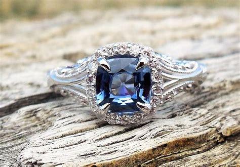 Blue Saphire 3 03 Ct vintage antique 1 28ct blue sapphire unique