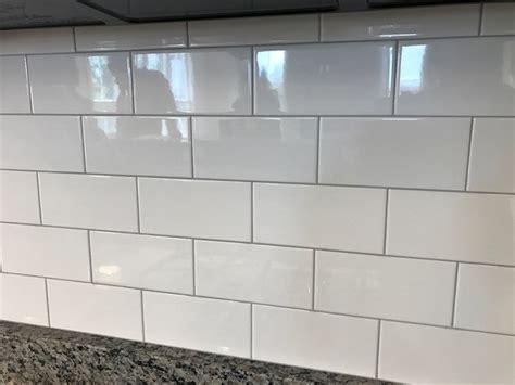 white subway tile light gray grout tile design ideas
