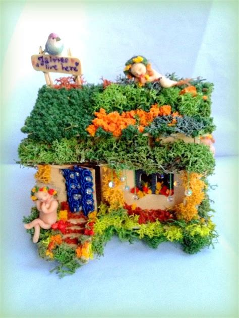 fairy garden houses for sale fairy garden fairy house with fairies and birds polymer clay sculpts pixie angel doll