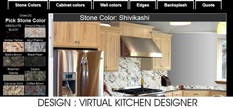 virtual kitchen color designer endicott ny granite countertops free instant estimate