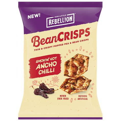 chips crisps the snacks rebellion snacks smokin ancho chili bean crisps