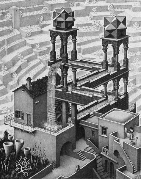 M C Escher Sketches by The Impossible World Of M C Escher New Hshire