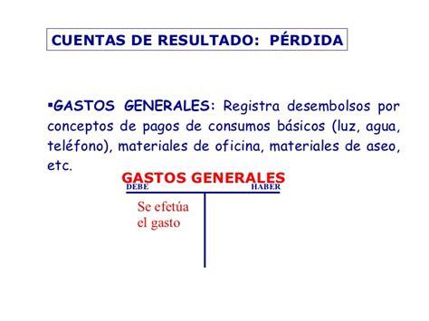 gastos de cuenta contabilidad b 225 sica