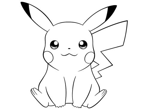 pokemon thunderbolt attack 10 pikachu coloring pages