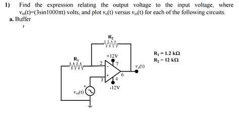 find the expression for the voltage across the inductor for t 0 find the expression relating the output voltage to chegg