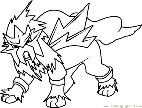 pokemon coloring pages raikou entei pokemon coloring page free printable pages pokemon