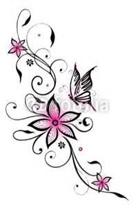 Butterflies And Flowers Tattoos - gamesageddon ranke flora bl 252 ten schmetterlinge