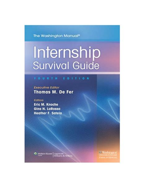 networking to internships and careers handbook books the washington manual internship survival guide