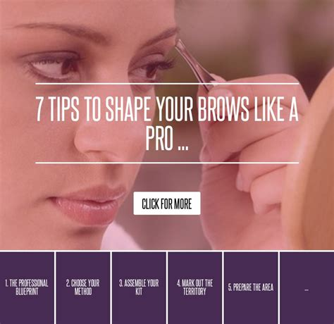 7 Tips To Shape Your Brows Like A Pro 7 tips to shape your brows like a pro