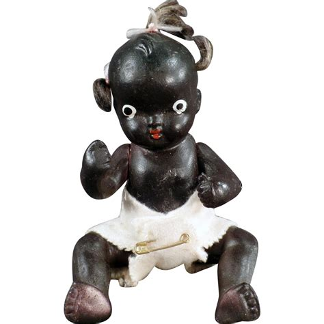 bisque black doll japanese bisque black baby doll 5 sold on ruby