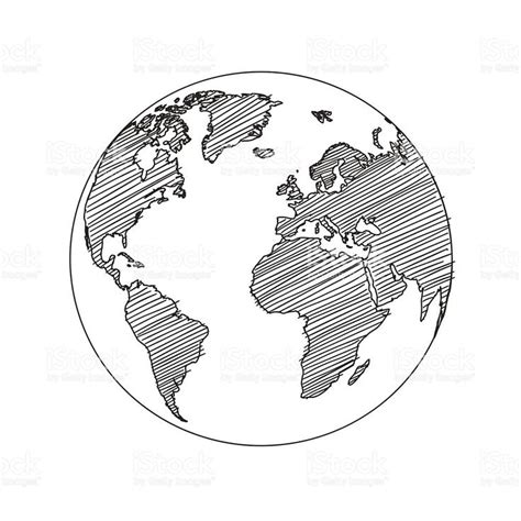 sketch your world drawing 1845435141 world map globe sketch in vector format carte du monde