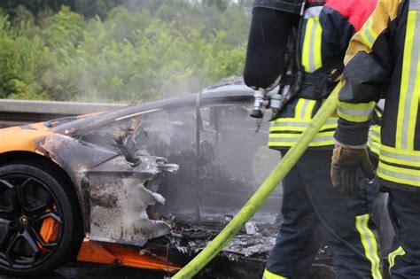 Lamborghini Destroyed Orange Lamborghini Aventador Destroyed By On Autobahn