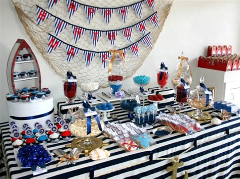 big company  blog  nautical inspired party  sweetest  candy buffet