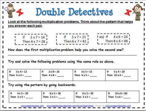 what pattern can you use to multiply a number multiplication activities for 3rd graders math for kids