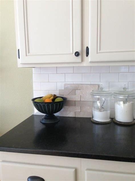 Designer Tiles For Kitchen Backsplash beige kitchen cabinets with white subway tile design do