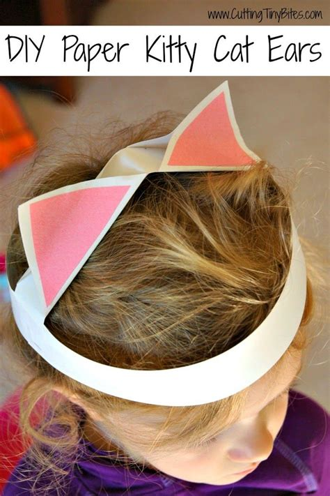 How To Make Cat Ears With Paper - diy paper cat ears simple dresses cat ears and
