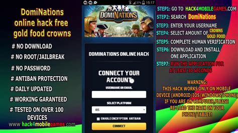 android cheats dominations hack cheats for android ios get free gold crowns