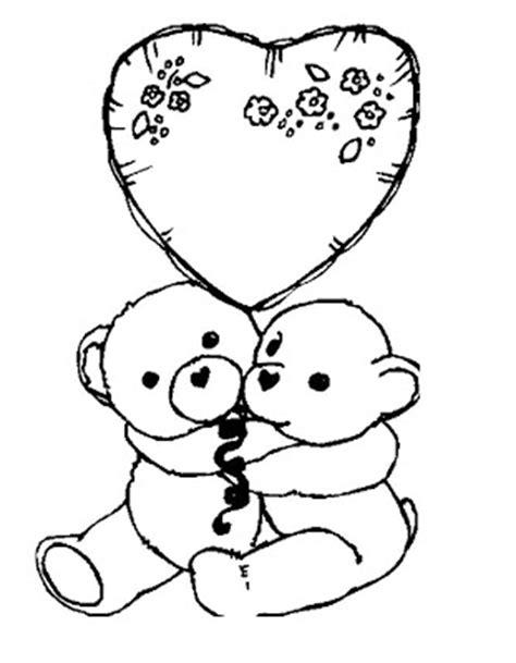 imagenes de ositos tiernos para dibujar a lapiz ositos con corazones para colorear