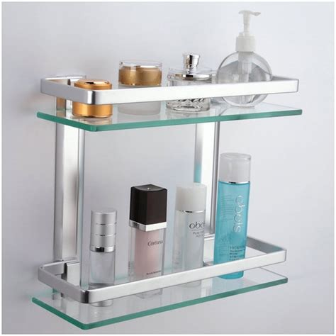 glass shelves bathroom corner wall shelf unit bathroom