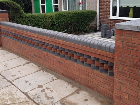 walls garden garden wall aintree with toothing feature ljp builders