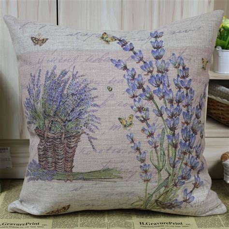lavender cushion cover