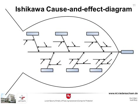 how to use a cause and effect diagram auditing and root cause analysis ppt