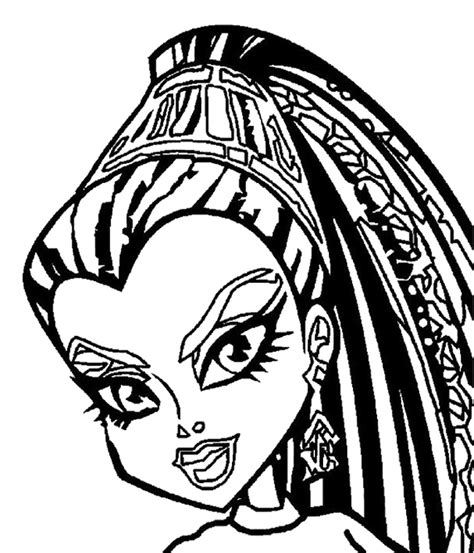 monster high coloring pages nefera de nile cleo de nile coloring pages az coloring pages