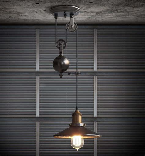 kitchen rise fall pulley pendant lights edison pendant