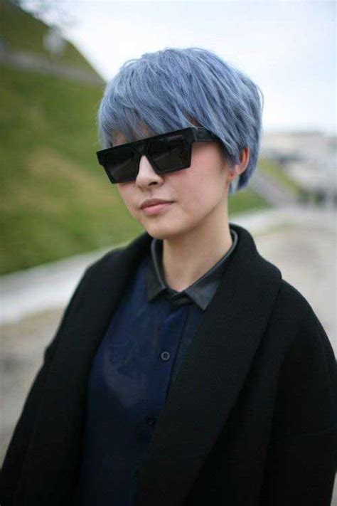 blue gray burr cut hair 10 punk pixie cuts pixie cut 2015