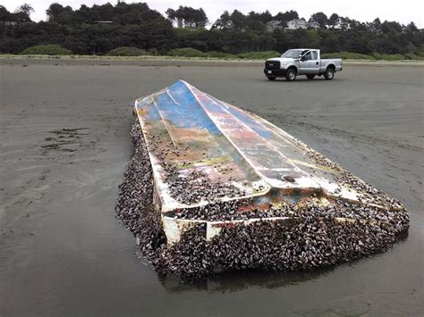 japanese fishing boat from tsunami new wave of suspected tsunami debris washes ashore nw
