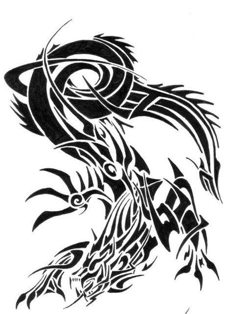 Dessin Dragon Tribal