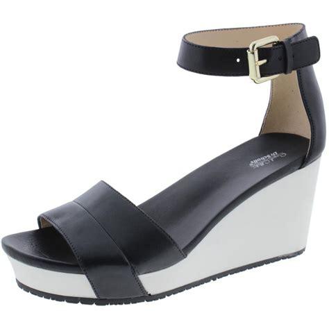 womens wedge slippers meringue dr scholl s 5069 womens warner leather wedge