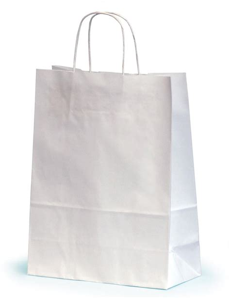 White Paper Craft Bags - medium white paper gift bags with twisted handles 24 x 11