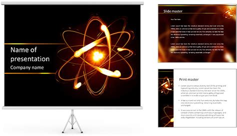 physics powerpoint template physics of the universe powerpoint template backgrounds