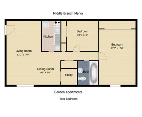 2 bedroom apartment square footage floorplan the communities at middle branch apartments