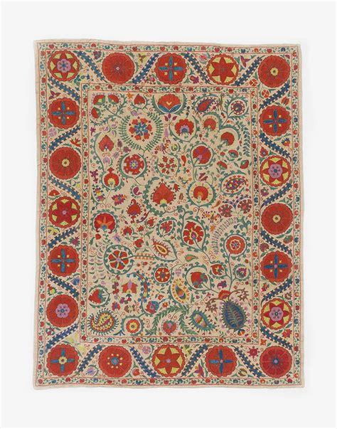 uzbek textile storesebaycom uzbek suzani embroidered silk bed cover kichy