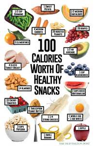 how much of these healthy snacks rack up to 100 calories